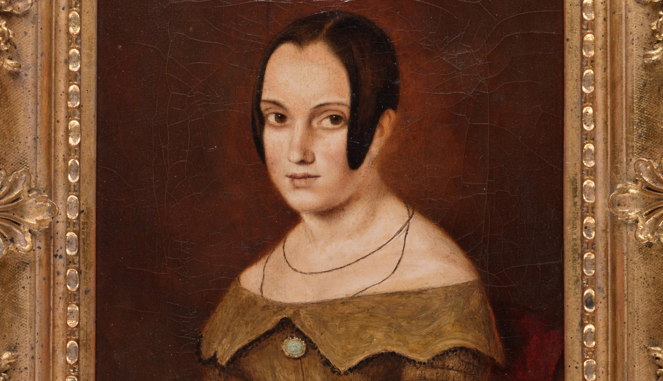 Oil portrait of Mary Elizabeth Pye (1827-1910), painted c 1845