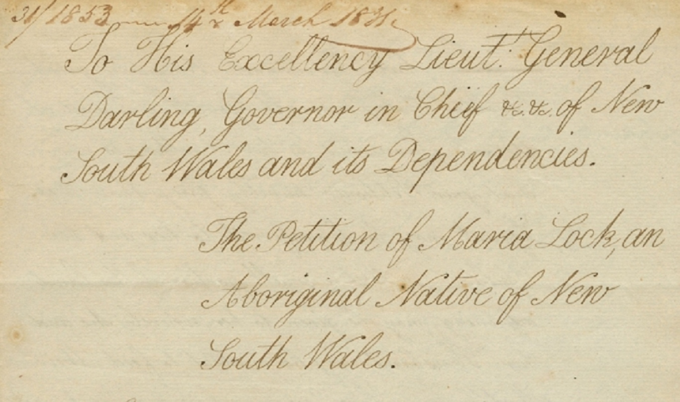 Maria Lock's 'Petition to Governor Darling, regarding her marriage portion, Liverpool', 3 March 1831.