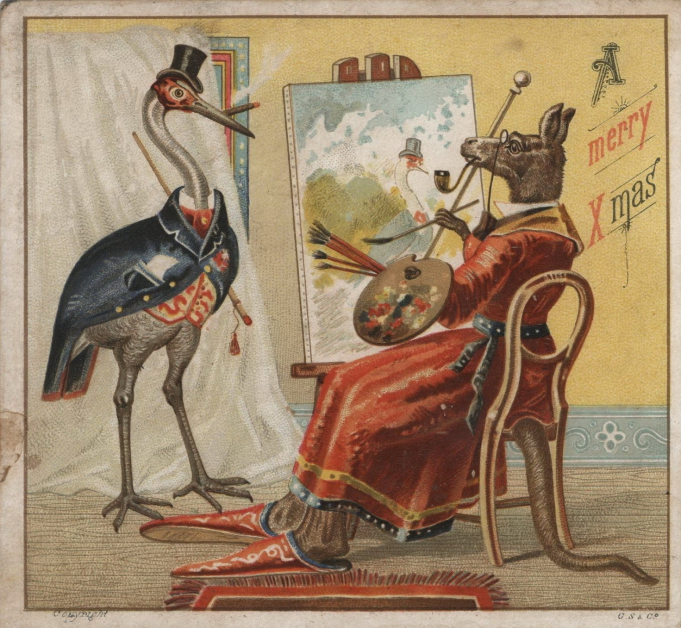 Christmas Card Artist.Bessie Rouse S Scrap Album The First Australian Christmas