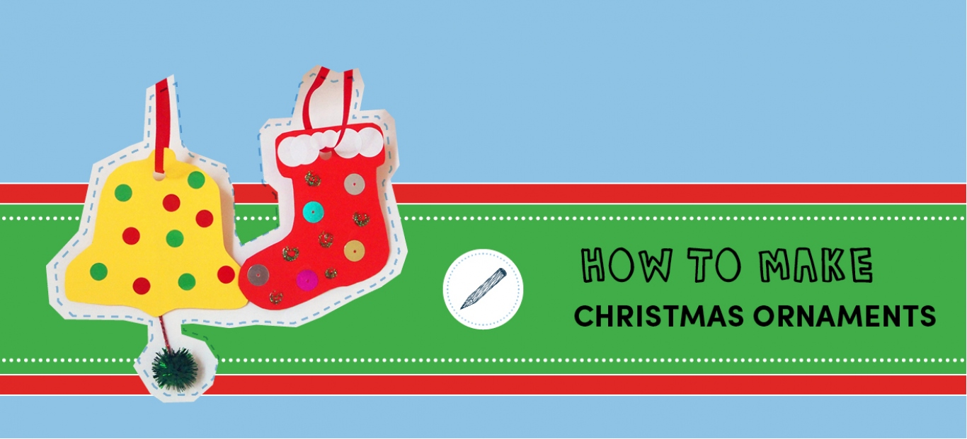 How to make Christmas ornaments banner with two shapes.