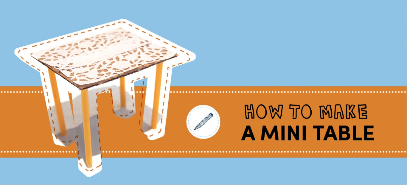 How to make a mini table sydney living museums for How to draw a crafting table