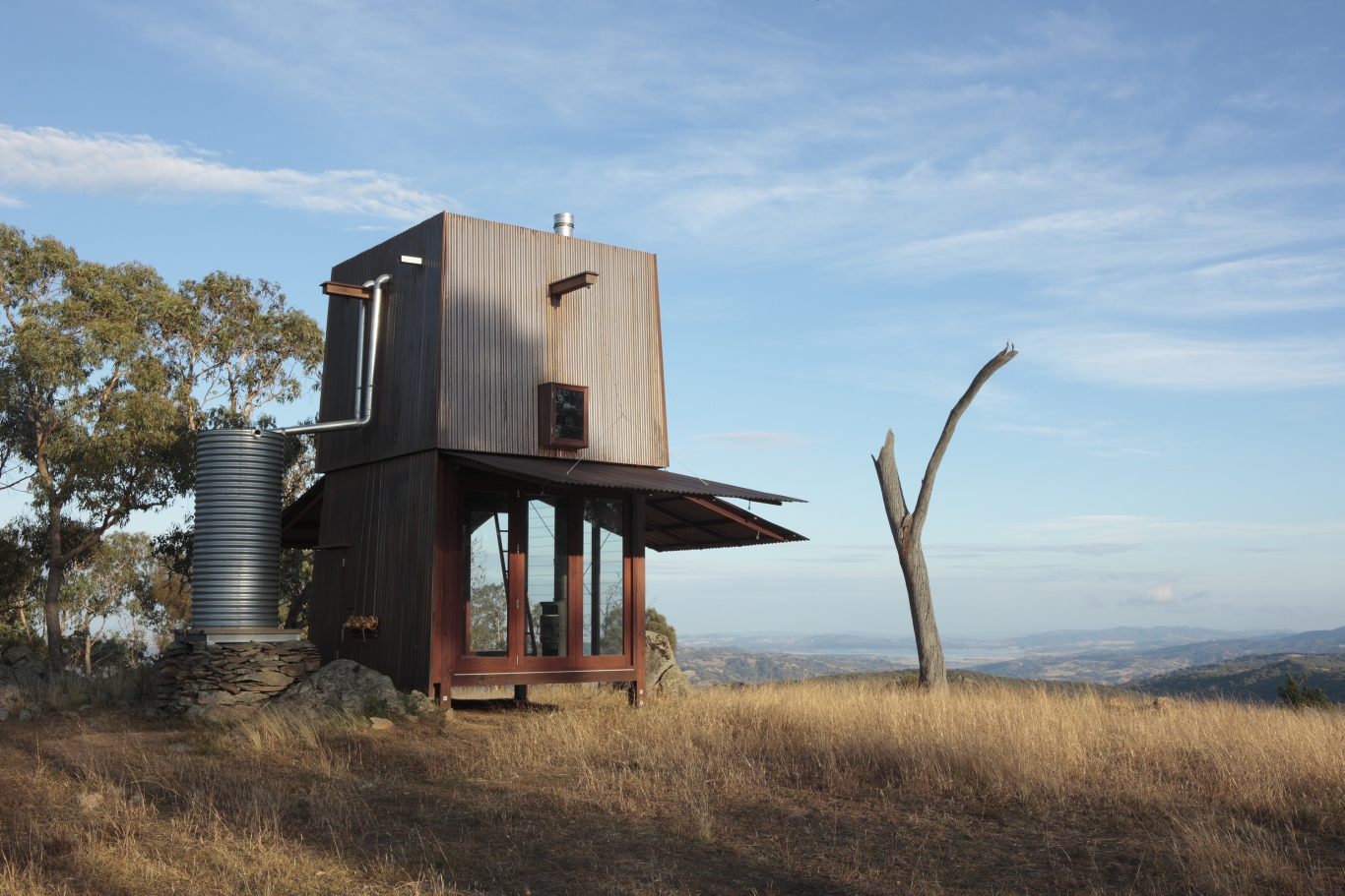 Image showing a cabin looking out onto a fantastic view