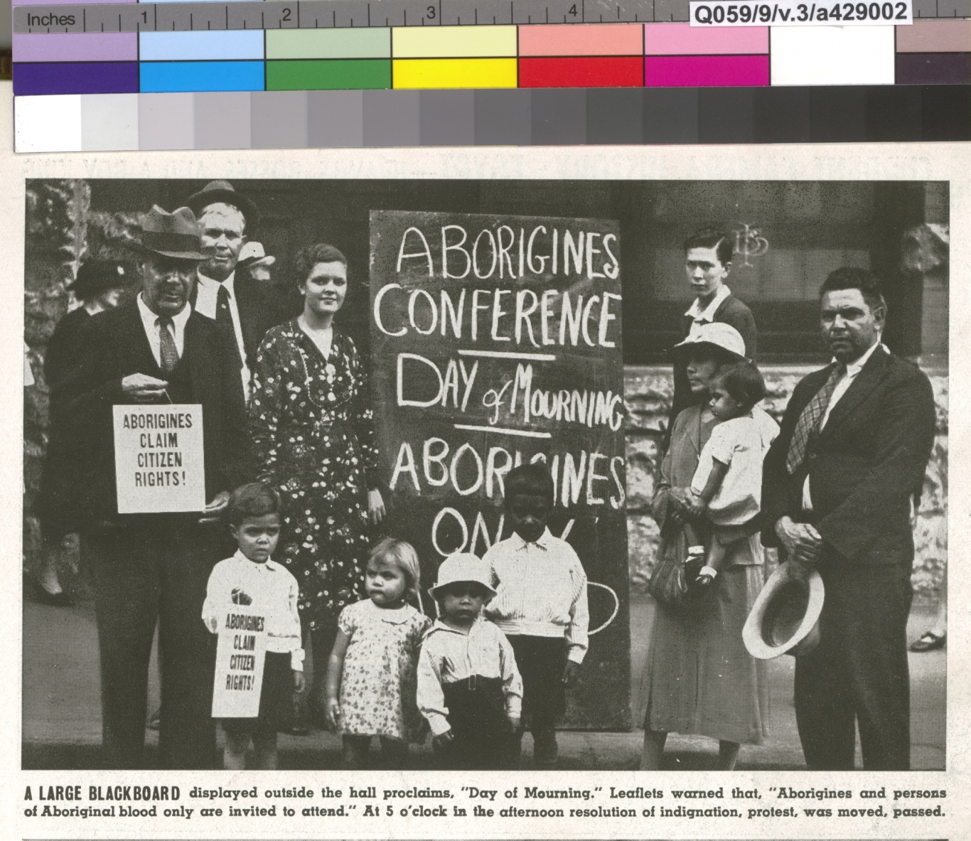 Aborigines day of mourning, 26 January 1938. State Library of NSW a429002