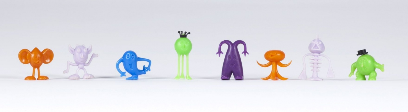 Collection of crater critters cereal toys