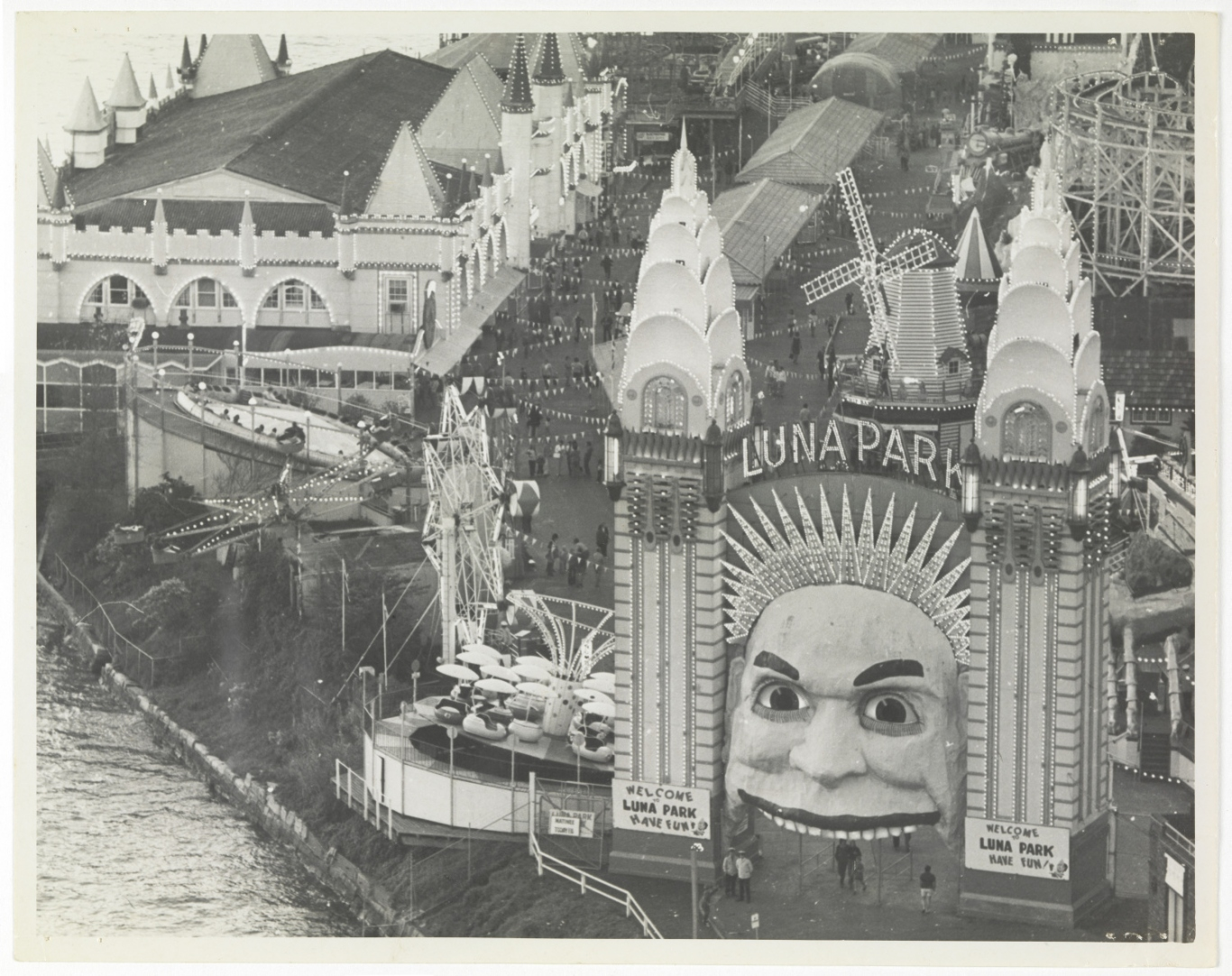 Elevated view of Luna Park, c.1950.