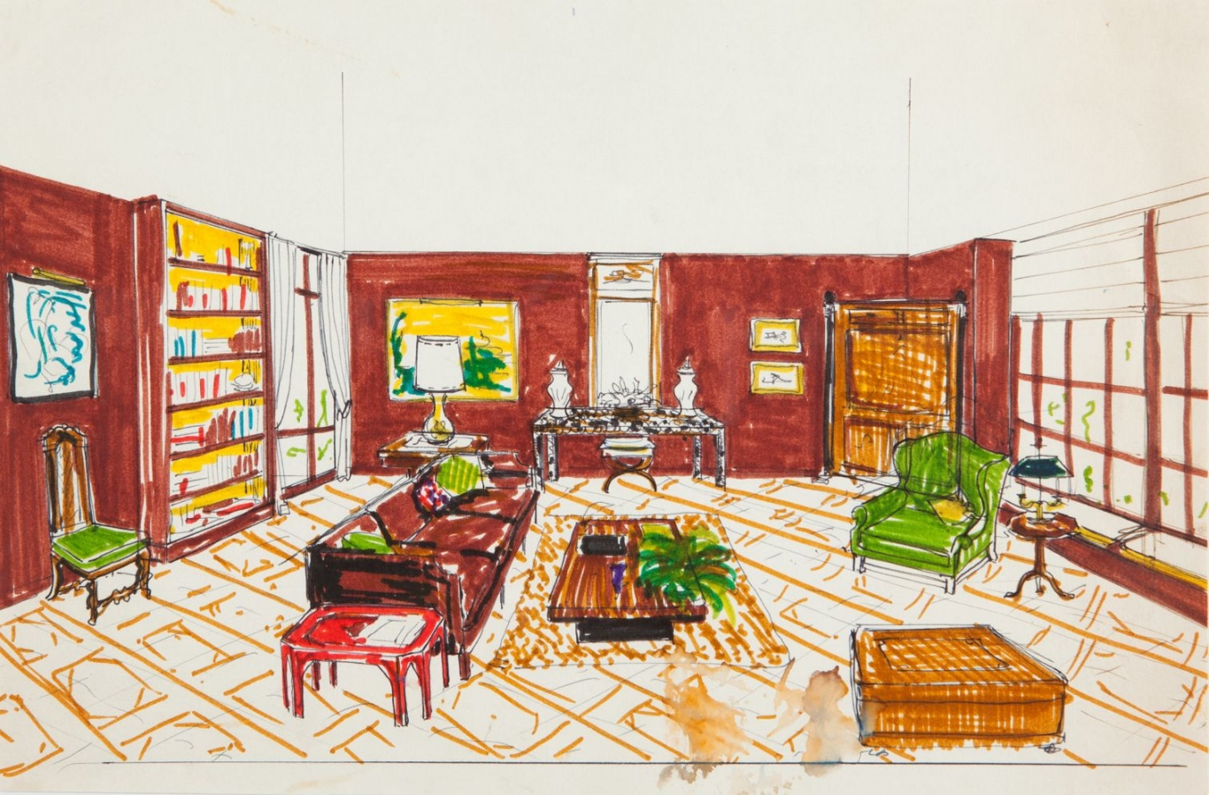 Sitting room for Mrs Harold Holt