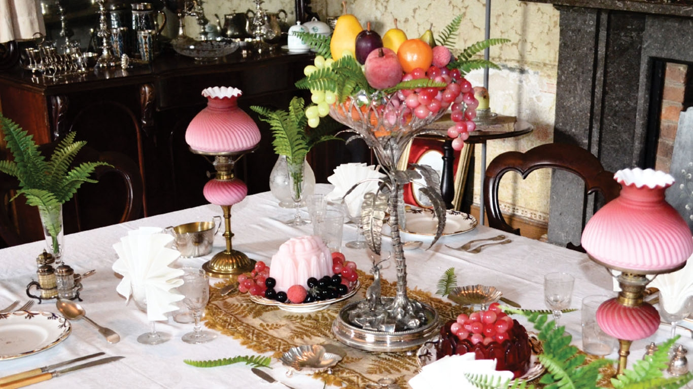The dining room at Rouse Hill House