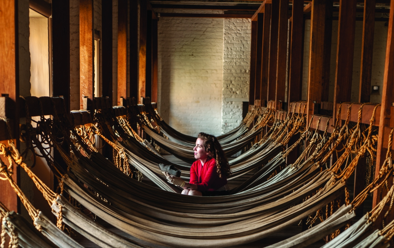 Picture of curator Fiona Starr at the Hyde Park Barracks Museum