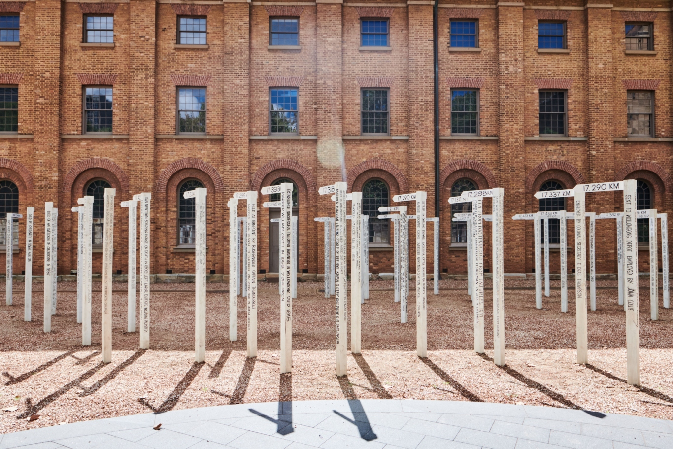 Who goes here? installation by artist Fiona Hall.