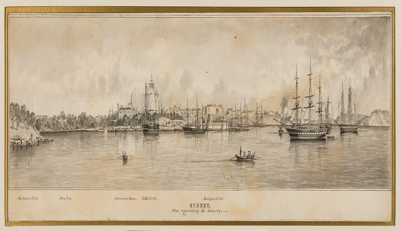 Old image of Sydney Harbour