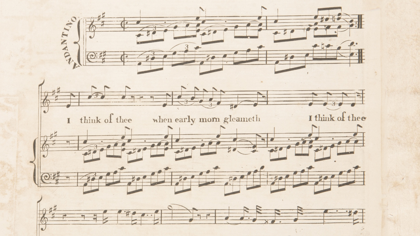 Cropped page of printed music.