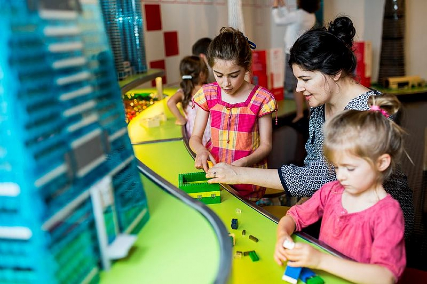 Young Family enjoys Towers of Tomorrow