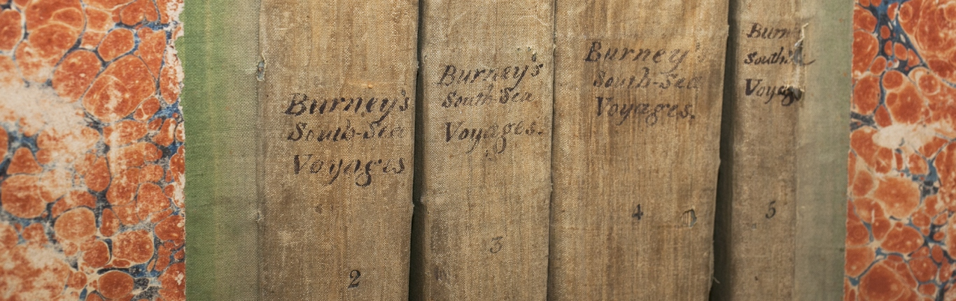 Spines of Burney's 'South sea voyages'