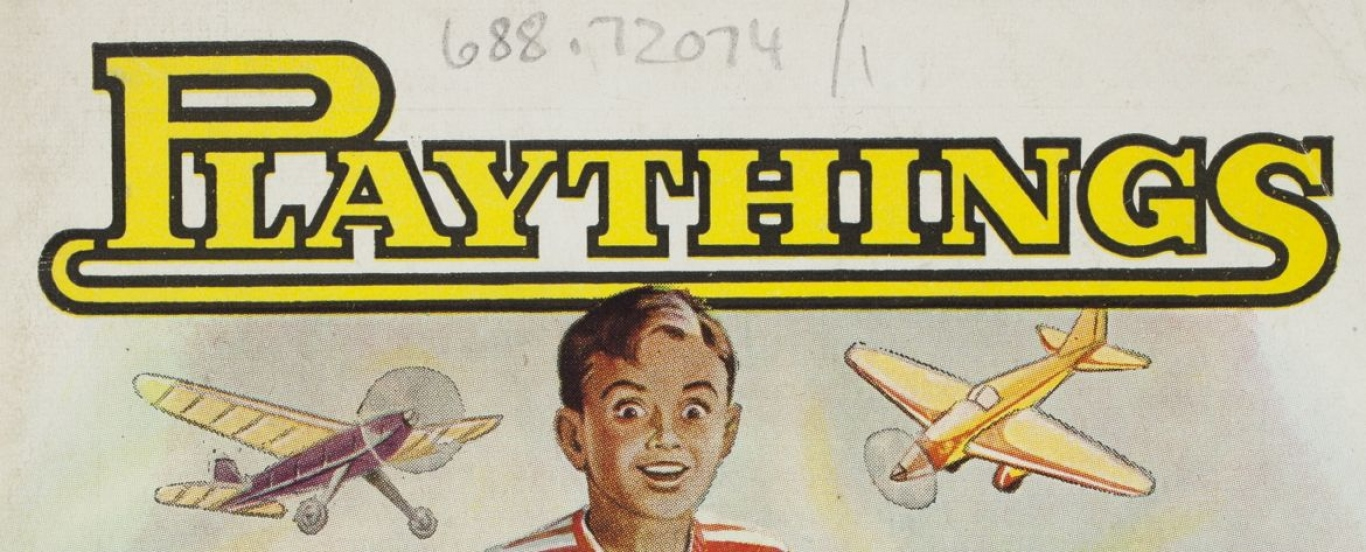 Close up of Walther and Stevenson Playthings catalogue