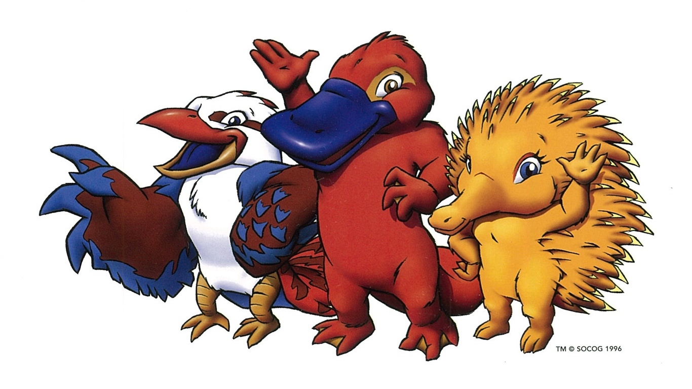 Illustration of Sydney Olympic Mascots Ollie Syd and Millie