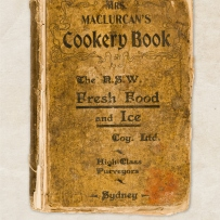 Front cover of old cookbook.