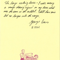 A story from George Pearce born 1942 about his rocking horse