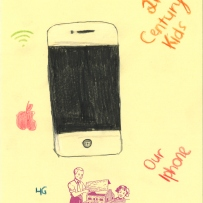 A drawing of an iPhone