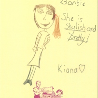 Drawing of barbie