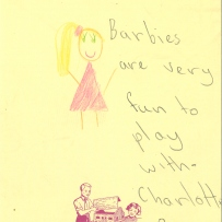 A drawing of barbie