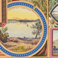 Paintings from the Lord Carrington Address showing landscape and local fauna vignettes