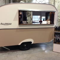 Image of the vintage caravan as coffee stall