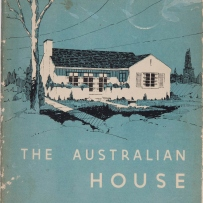 Cover of book, green background with drawing of house in white and black.
