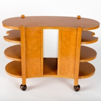 Occasional wooden table with oval ends