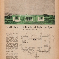 Design by architect Albert Hanson in 'Home plans' published by the Australian Women's Weekly, 1946