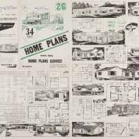 Unfolded catalogue of plans and drawings.