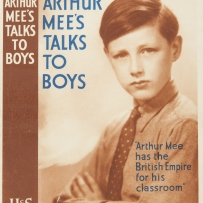 Cover of booklet with boy in tie.