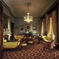 The drawing room of  Elizabeth Bay House, 11 August 1987