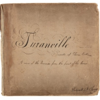 Cover of a five part photographic panorama of Turanville near Scone / photograpjed by Joseph Check, 1889
