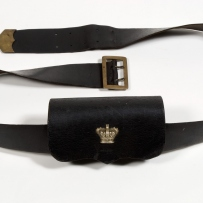 Leather ammunition pouch used by police