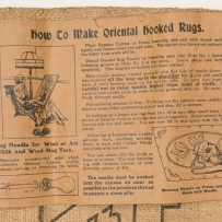 Instructions oriental hooked rug 1930s