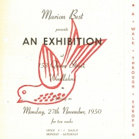 'A walk through Europe', a Marion Hall Best exhibition, 1950