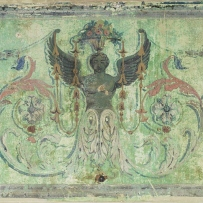 Painted plaster panel from Richmond Villa