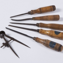 Woodworking tools, chisels and gouges