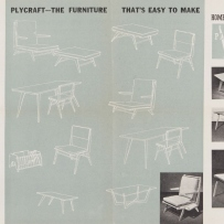 Plycraft furniture patterns, 1954
