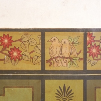 Two birds painted decoration