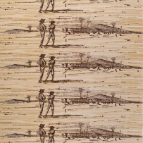 'Figures in landscape' design by Russell Drysdale