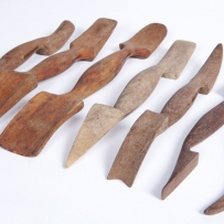 Timber tools for decorative plaster work