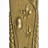 Stamped brass fingerplate