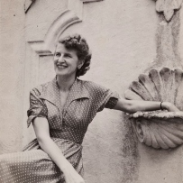 Marion Hall Best at home, 1952