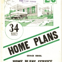 Grace Bros home plans c1955