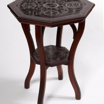 A chip-carved table