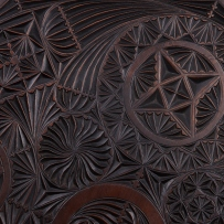 Chip-carving detail