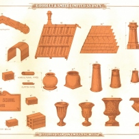 Tiles and other terracotta for the roof