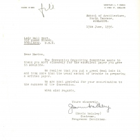 Letter of thanks to Marion Hall Best
