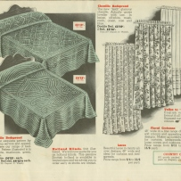 Chenille bedspreads in Morley Johnson catalogue